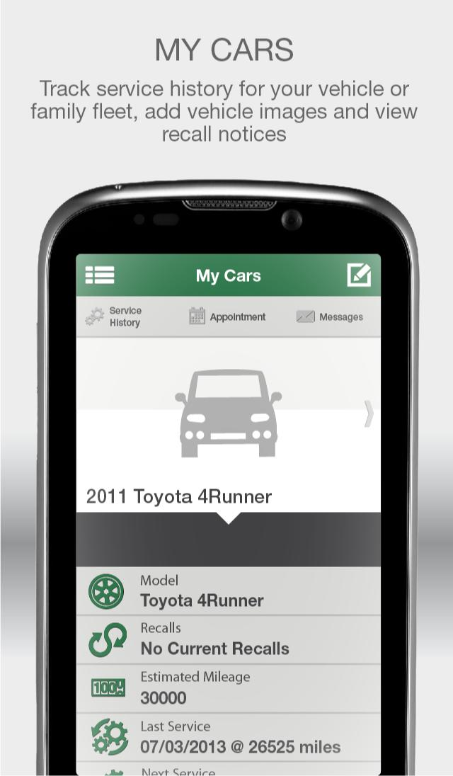 Green'S Toyota Service >> My Green S Toyota Of Lexington For Android Apk Download