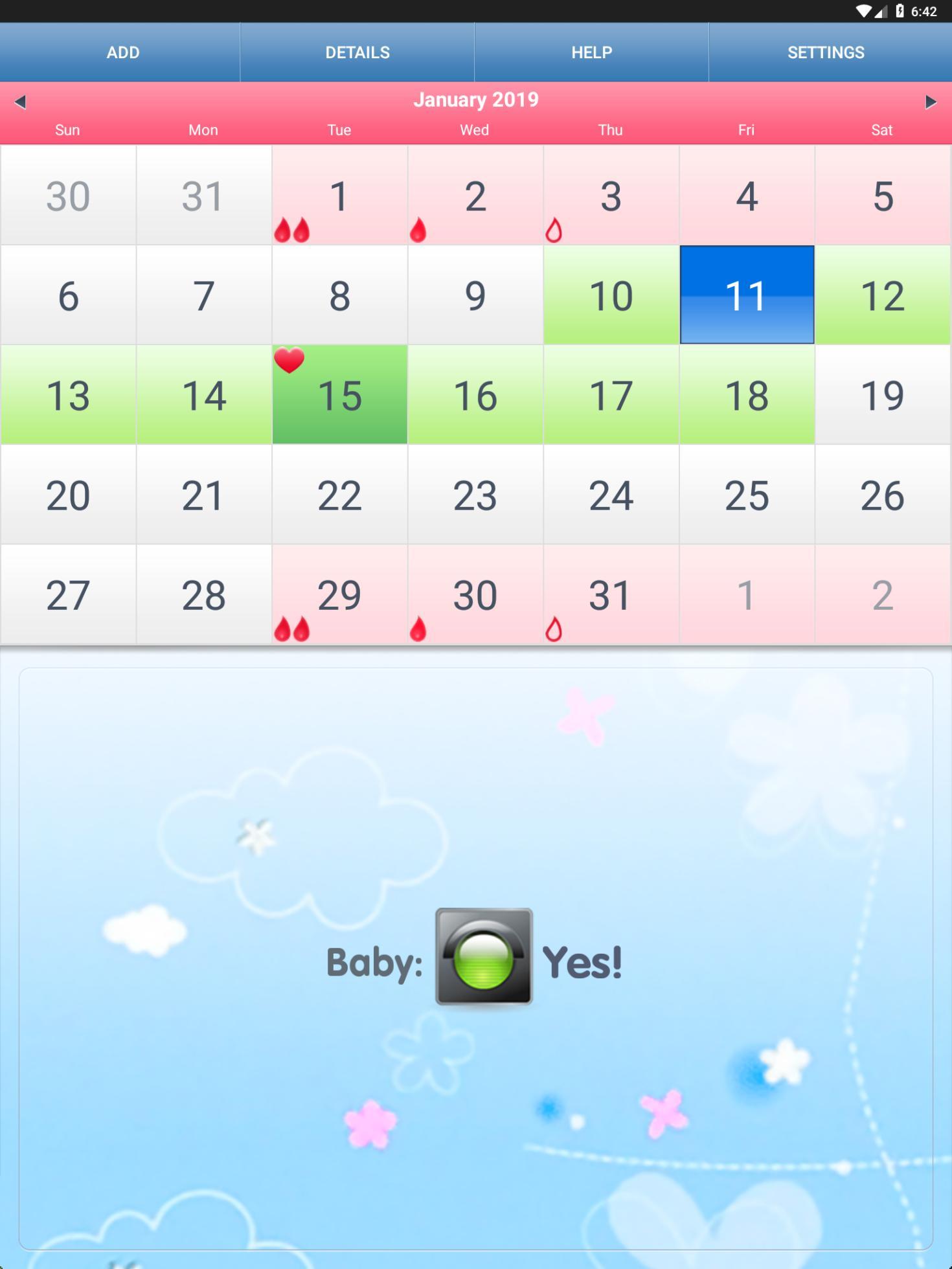 Calendrier Ovulation Et Regle.Ovulation Et Regles Calendrier Pour Android Telechargez L Apk