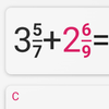 Fraction calculator with solution 圖標