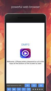 Dame MP3 Pro - Free web browser скриншот 3