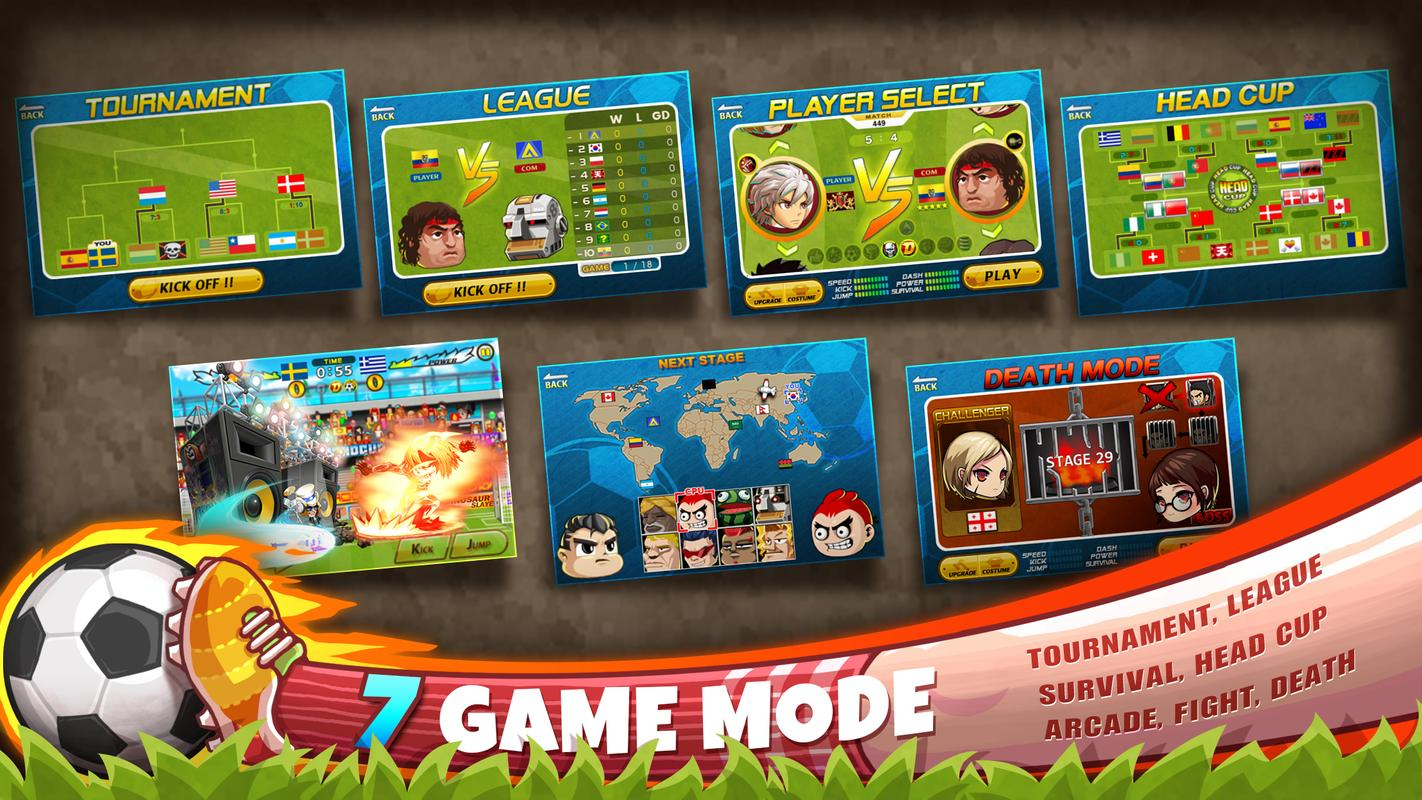 Head soccer for android apk download.