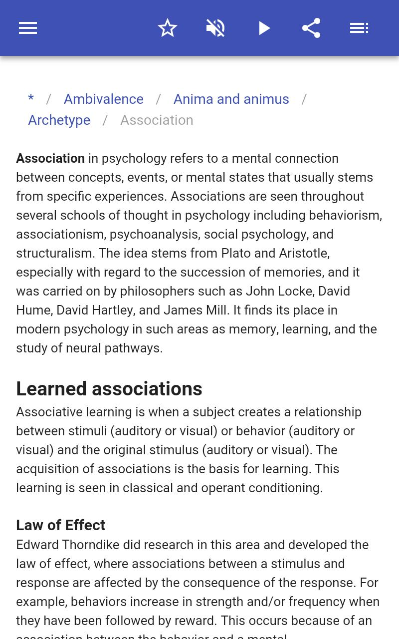 Psychological terms poster