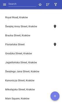 Streets in Krakow poster
