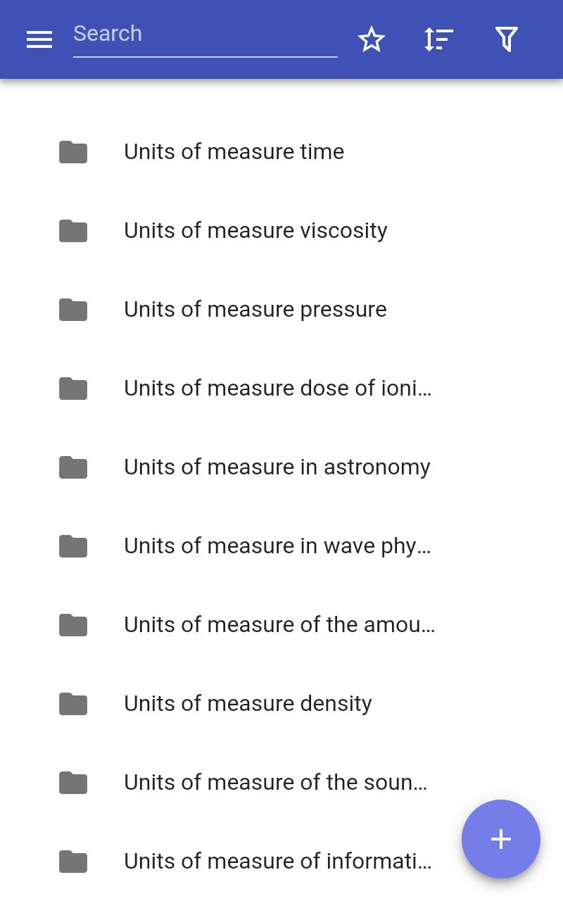Units of measure poster