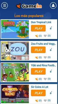 GameIn | Juegos para el móvil screenshot 1