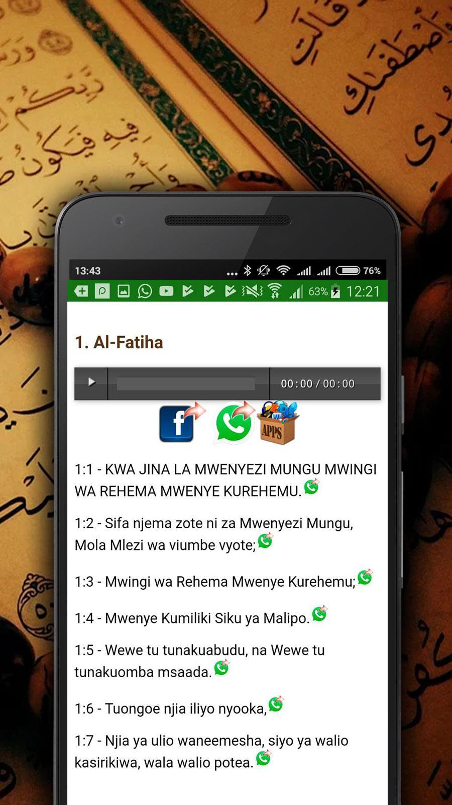 Swahili Quran Audio for Android - APK Download