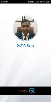 Dr T A RANA poster