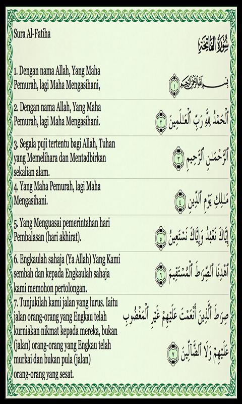 Doa Dan Kasiat Surat Al Fatihah Für Android Apk Herunterladen