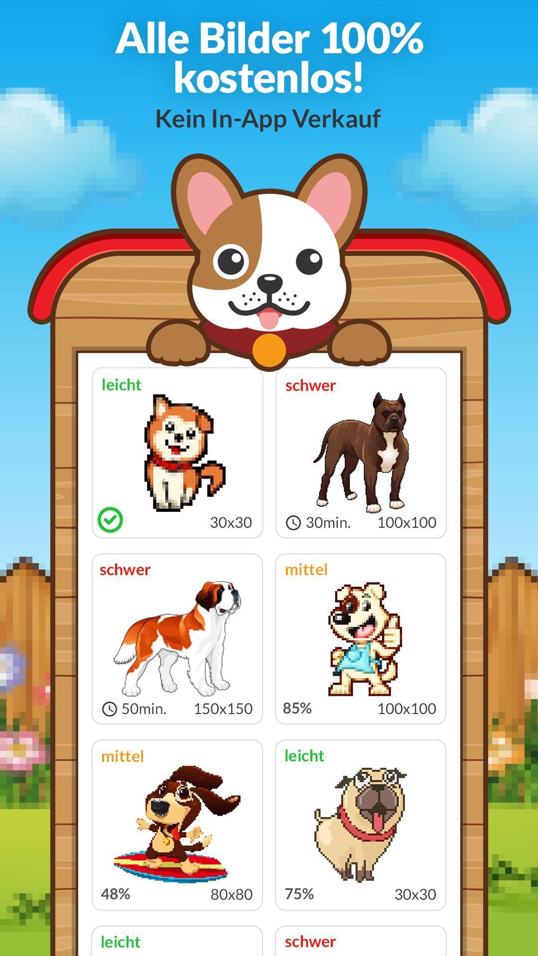 Malen Nach Zahlen Hund Ausmalbilder Für Android Apk