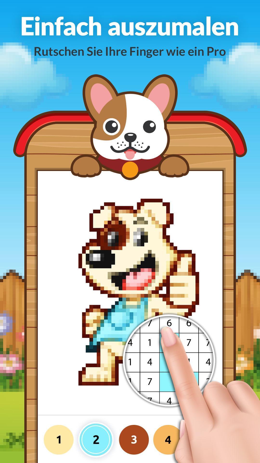 Malen Nach Zahlen Hund Ausmalbilder für Android - APK herunterladen