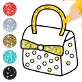 Glitter Stylish Handbags Coloring Book For Girls