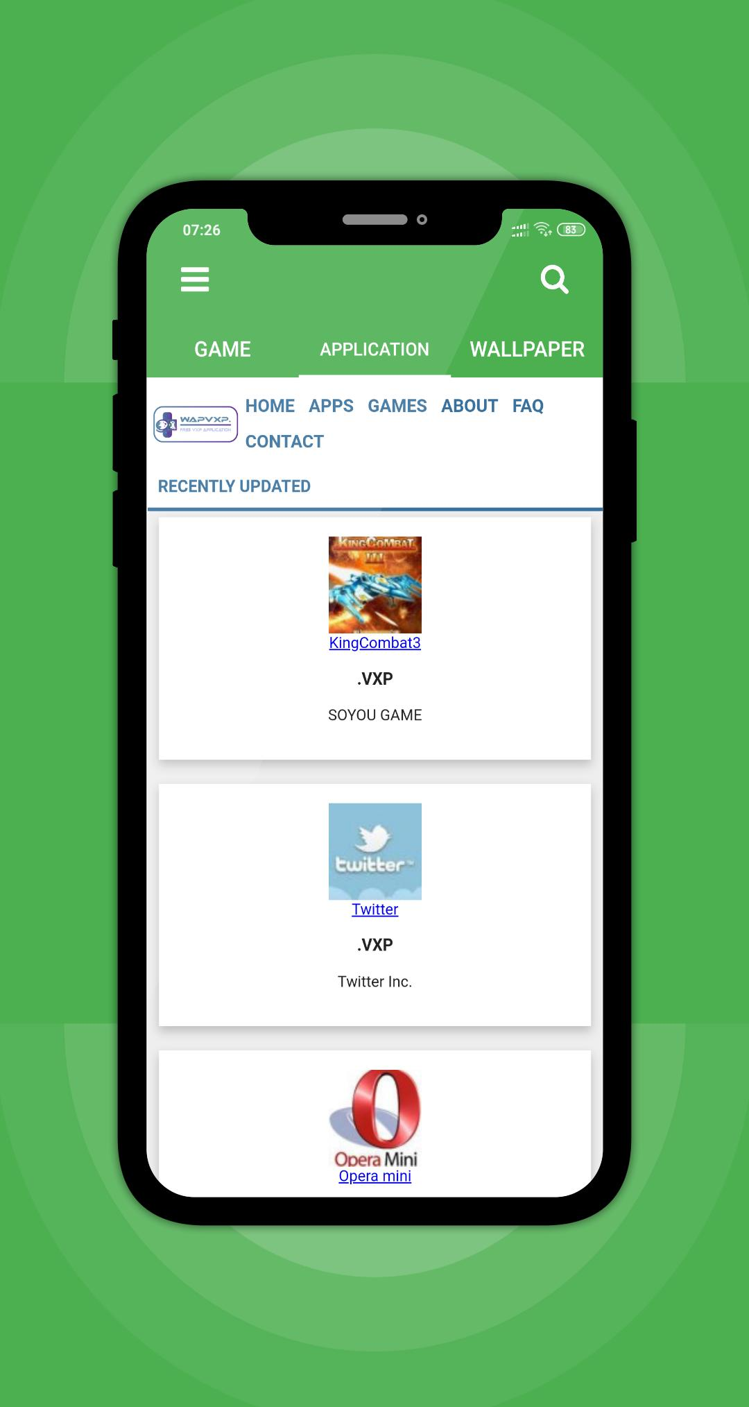 opera mini vxp app free download