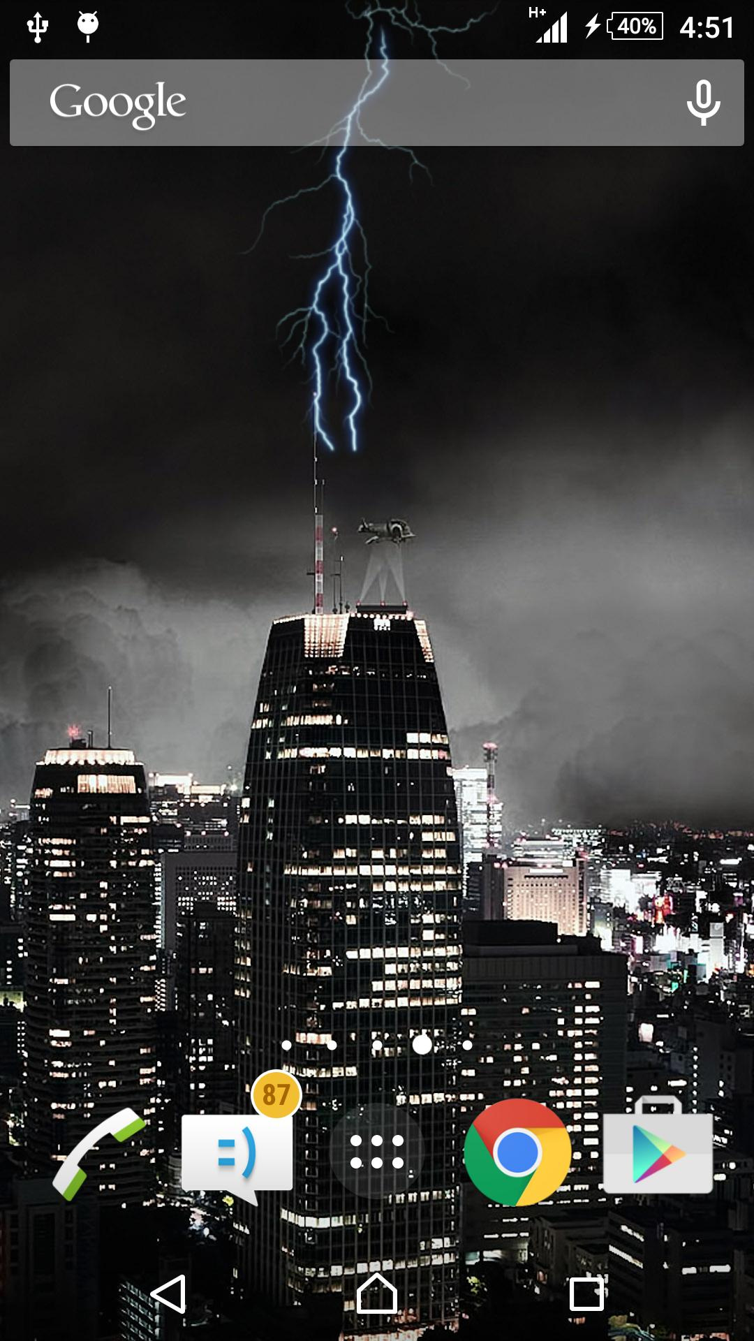 Lightning Storm Live Wallpaper Bolt Wallpaper For Android