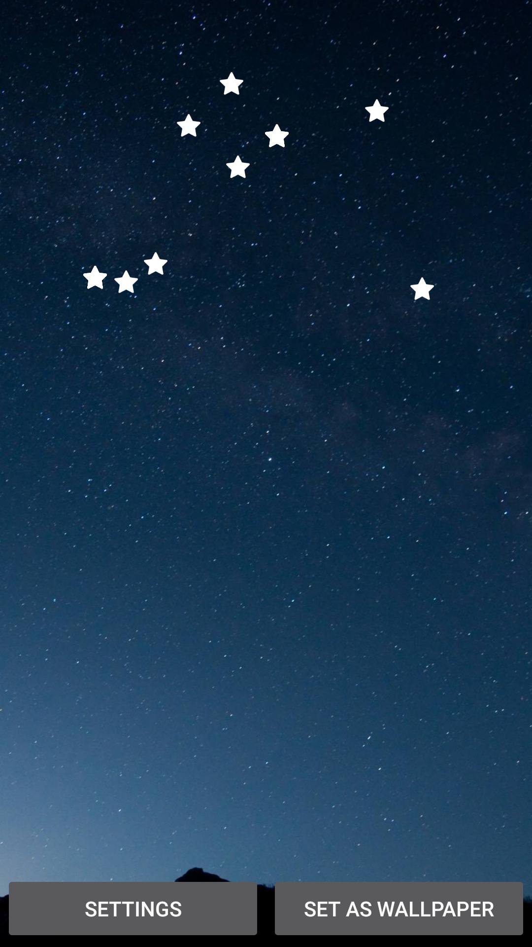 Sky Night Live Wallpaper With The Falling Stars For Android Apk Download