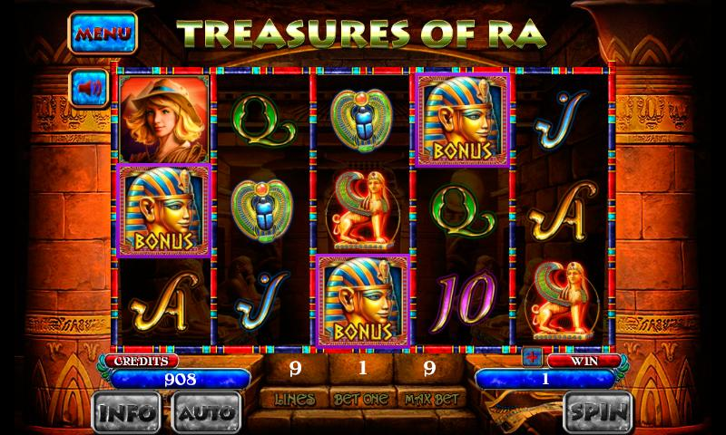 Treasures of RA Slot poster