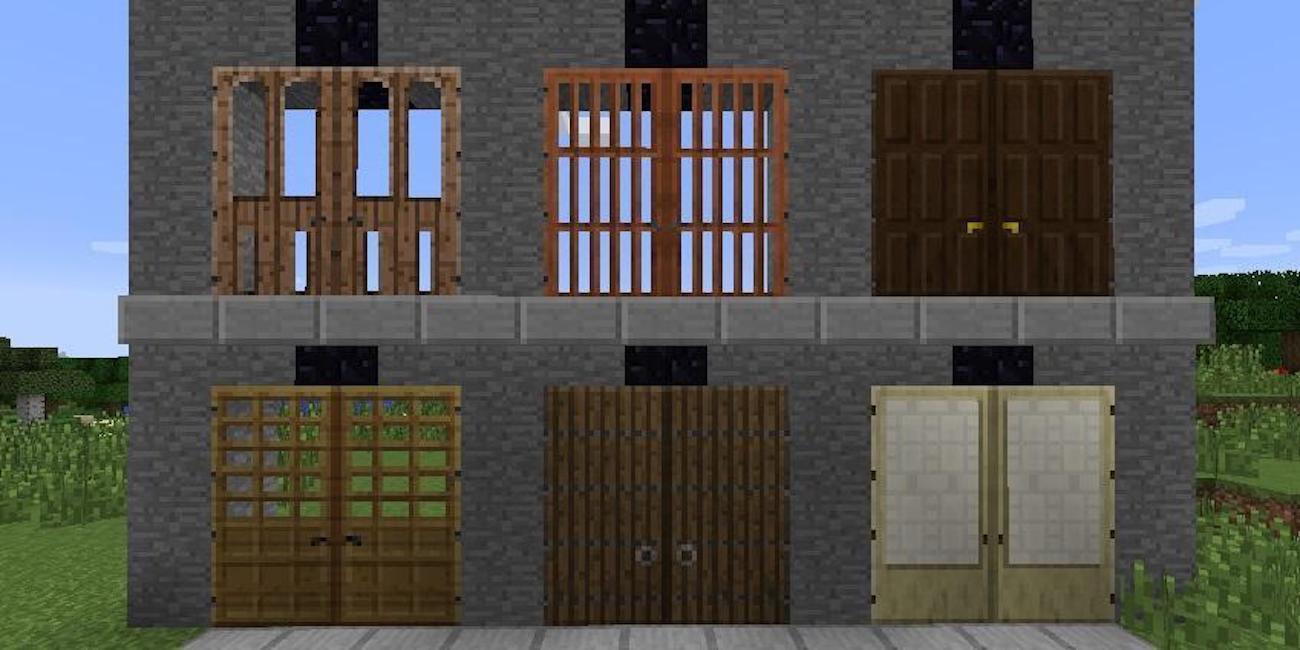 скачати мод на 3d двери майнкрафт 1.7.10 #1