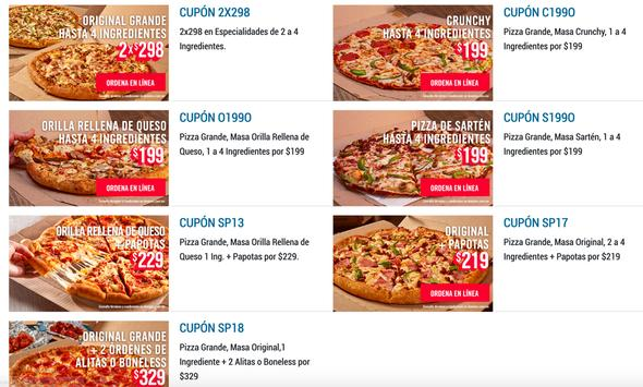 Dominos Pizza Mexico - Coupons Deals - Restaurants poster