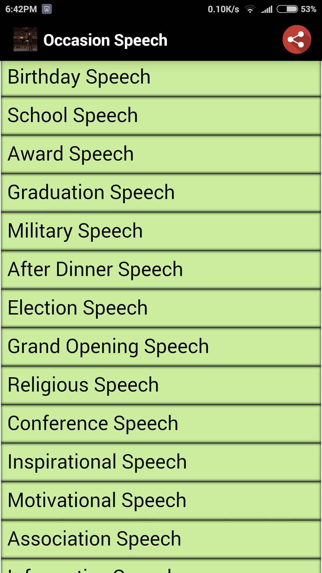 Occasion Speech for Android - APK Download