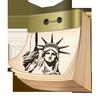 American tear-off calendar icône