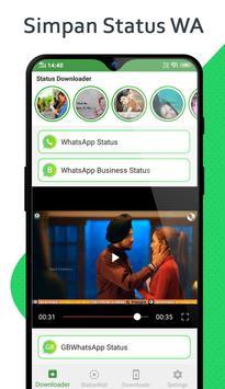 Status Unduh - Downloader untuk Whatsapp poster