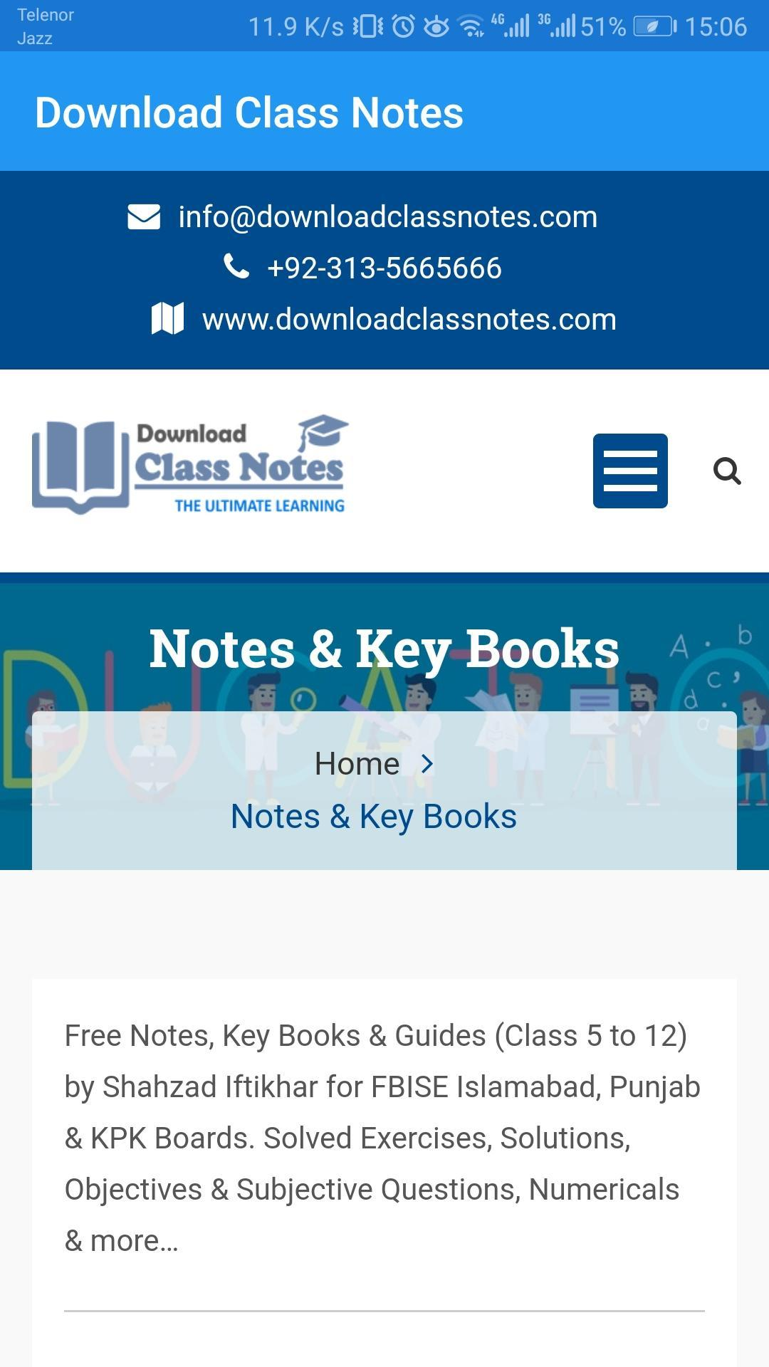 Download Class Notes for Android - APK Download