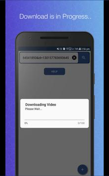 Downloader plus for FB screenshot 4