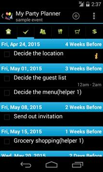 My Party Planner - Lite screenshot 1