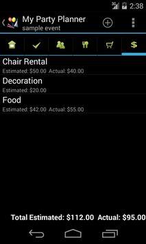 My Party Planner - Lite screenshot 4
