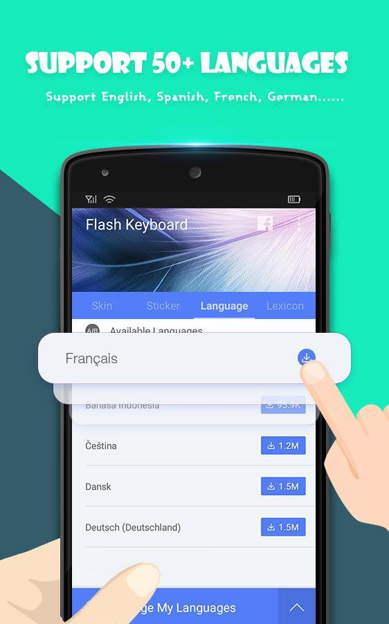 88cecbcf221 Flash Keyboard for Android - APK Download