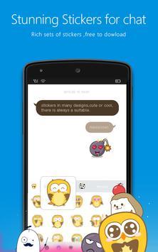 Flash Keyboard Emoji imagem de tela 1