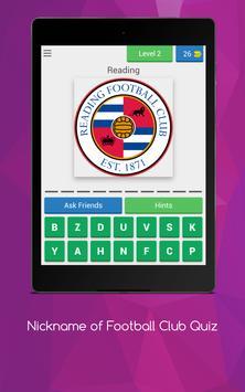 Nickname of Football Clubs Quiz screenshot 9