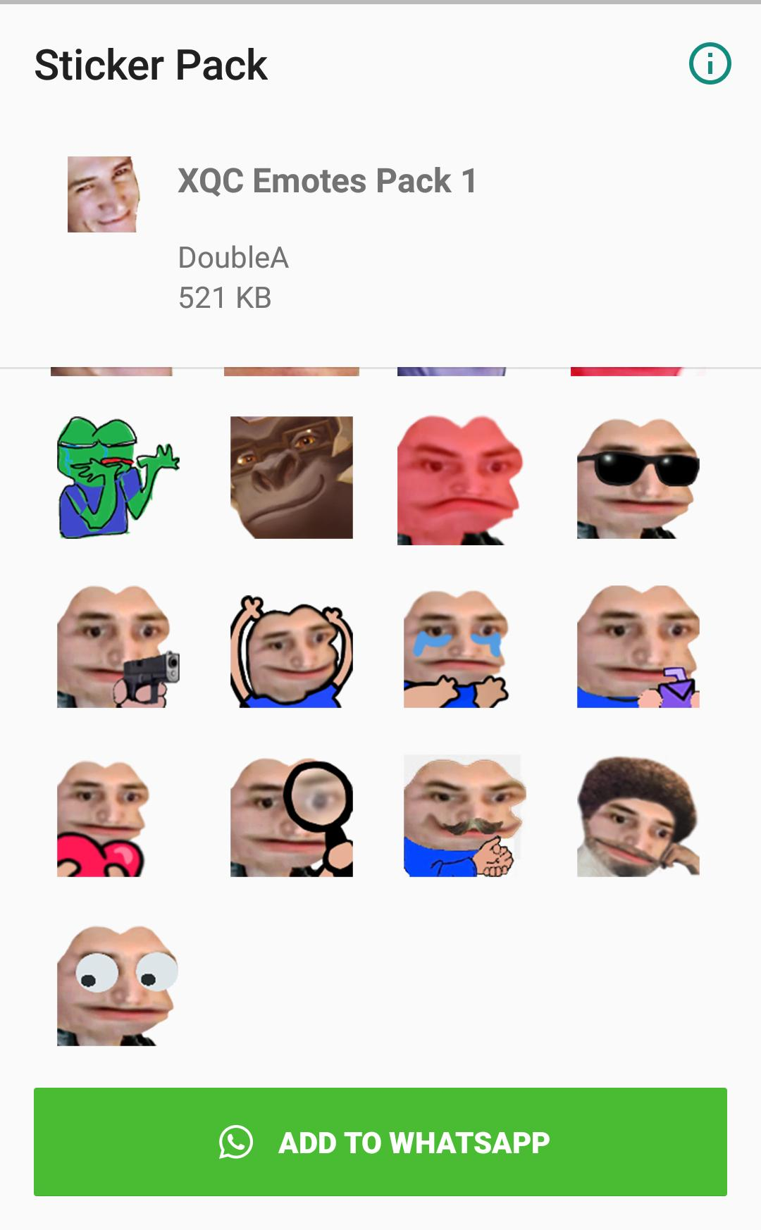 xQcOW Emote Stickers - WAStickerApps for Android - APK Download
