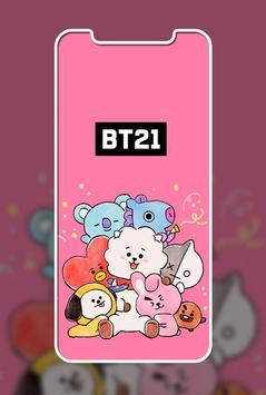 Cute Lol BT21 Wallpaper ảnh chụp màn hình 2