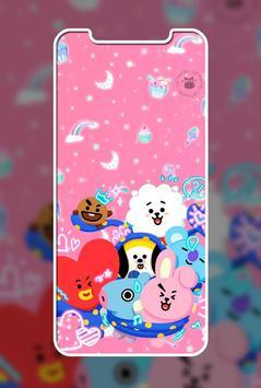 Cute Lol BT21 Wallpaper ảnh chụp màn hình 3