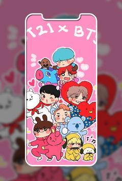 Cute Lol BT21 Wallpaper ảnh chụp màn hình 4