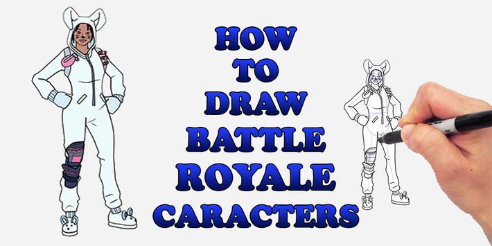 Draw Battale Royale FBR Characters screenshot 1