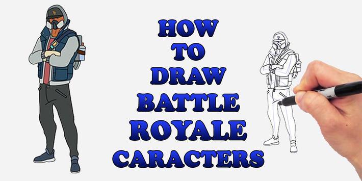 Draw Battale Royale FBR Characters screenshot 2