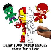 Draw Chibi SuperHeroes Characters icon
