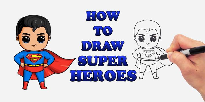 Draw Chibi SuperHeroes Characters poster
