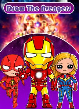 Draw The avengers poster