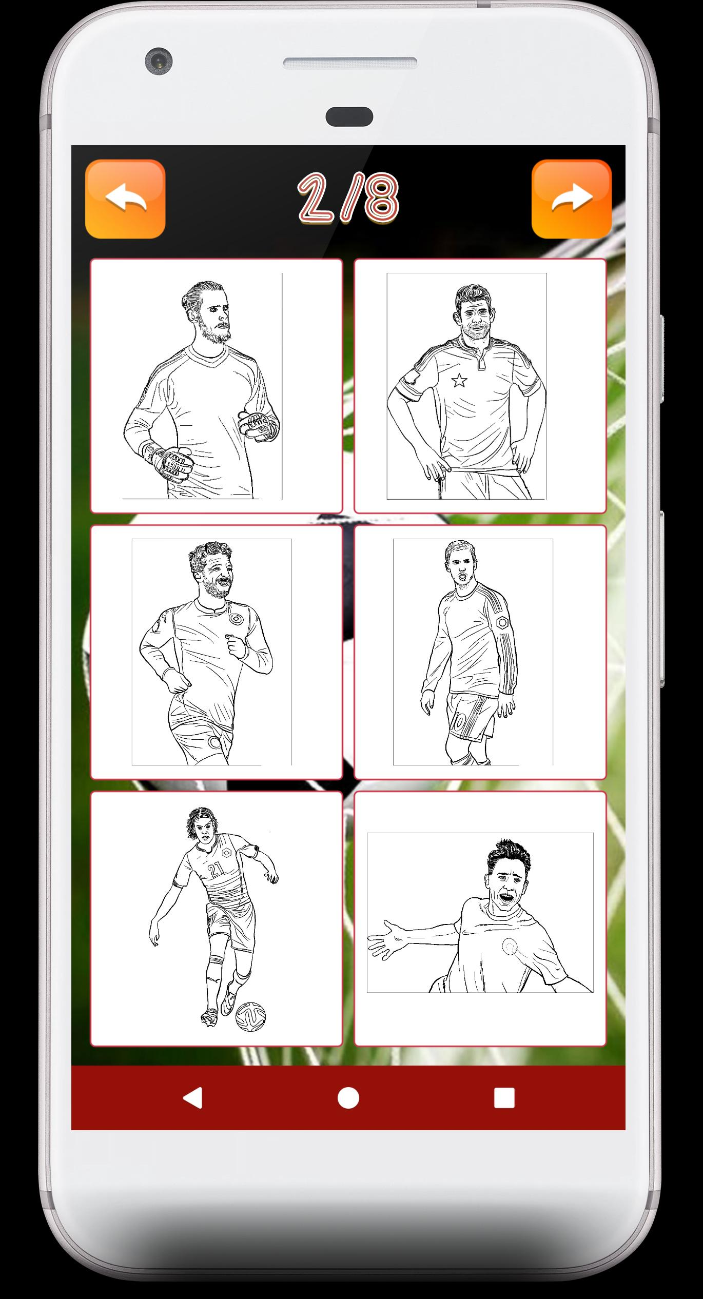 Football Coloring Books - soccer coloring games for Android ...