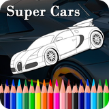 Super cars colouring game - Cars coloring book