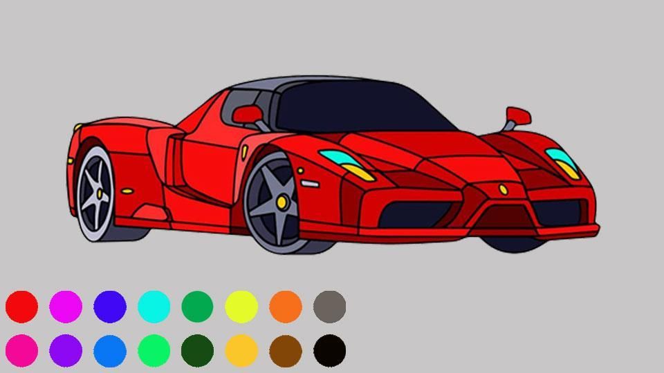 Super Car Colouring Games - Cars Coloring Book for Android ...