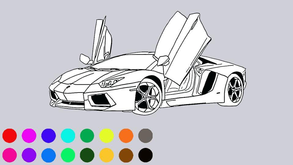 Super Car Colouring Games Cars Coloring Book For Android Apk Download