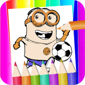 minions ruch coloring page fans icon