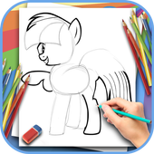 How to draw a beautiful pony icon