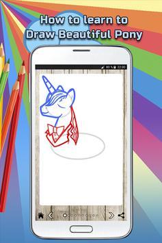 How to draw a beautiful pony screenshot 3