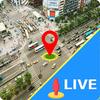 Live-Straßenansicht mit Panoramablick Zeichen