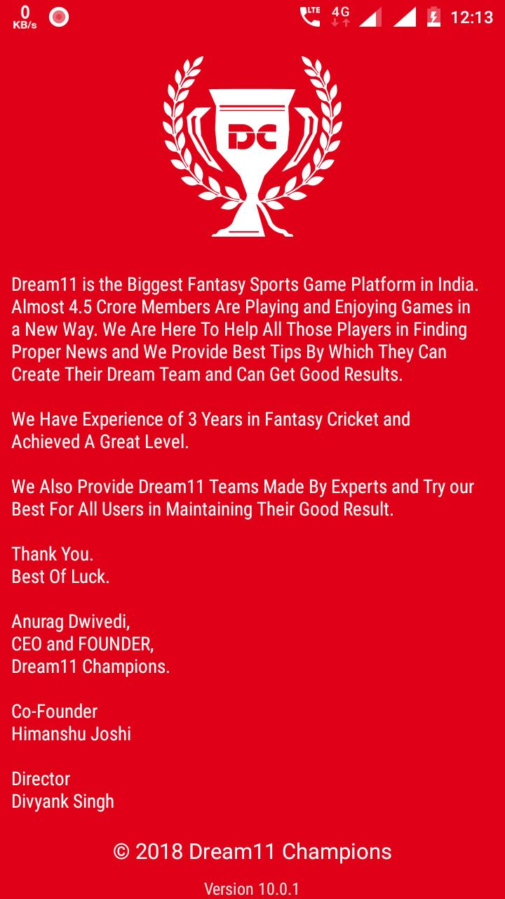 Dream11 Champions for Android - APK Download