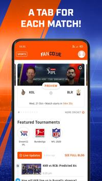 IPL Scores | Live Cricket | Watch Sports: FanCode स्क्रीनशॉट 2